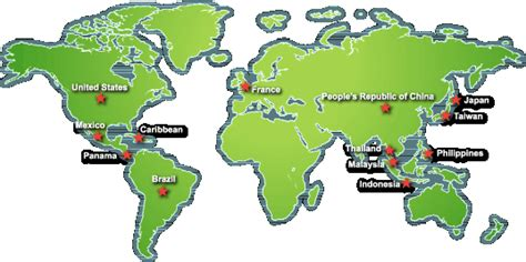 map world golf our international golf course projects around the world