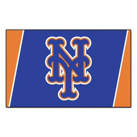 mets rug fanmats new york mets 4 ft x 6 ft area rug 7071 the home depot