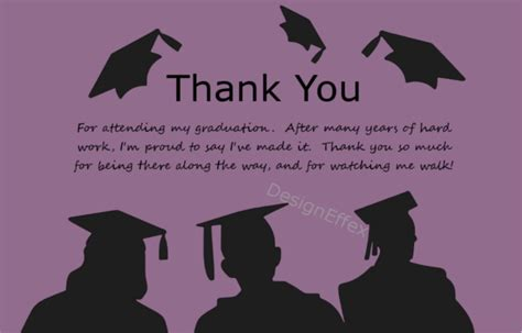 Thank You Cards Graduation Template by Graduation Thank You Cards Designeffex