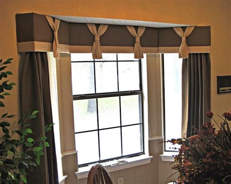 Bay Window Cornice Boards by Cornice Board With Drapery Panels Furnished And Installed