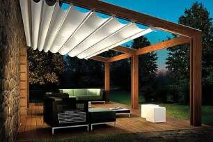 Pergola Sun Shades by Pergola Sliding Shade Home Designs