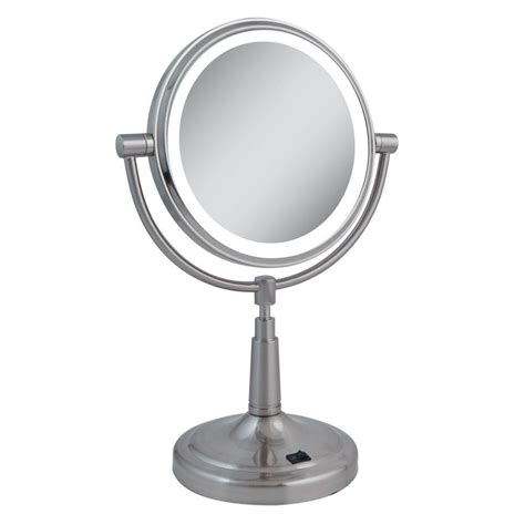 zadro lighted makeup mirror zadro led lighted 5x 1x vanity mirror in satin nickel