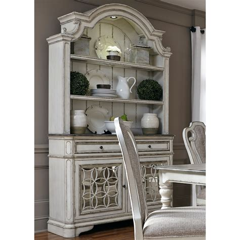 Liberty Furniture Magnolia Manor Dining 244 DR HB Dining Buffet and Hutch with Touch Lighting