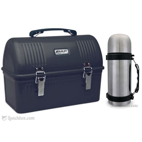 Lunch Box 1 construction worker black dome lunch box and thermos