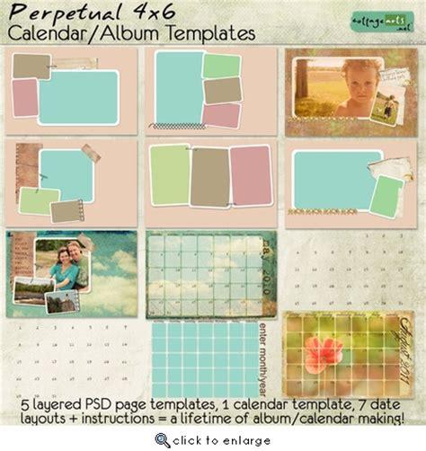 4x6 perpetual calendar album templates