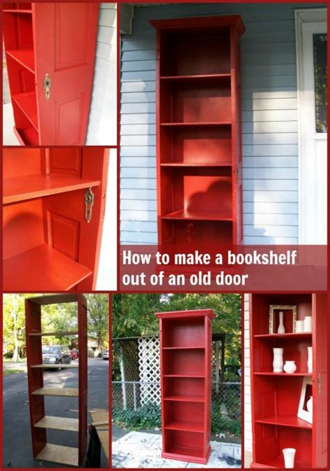 how to repurpose an door into a diy bookshelf how to
