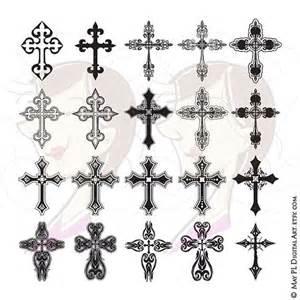 tattoo cross gothic cross digital clipart ornate christian orthodox gothic