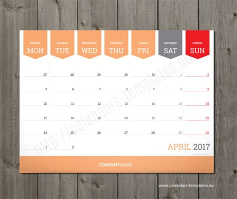 Monthly Calendar 2018 Planner Wall Or Table Pad Planner Template Calendar Template