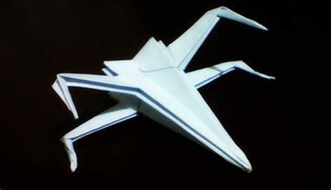 X Wing Fighter Origami - crafter origami x wing fighter