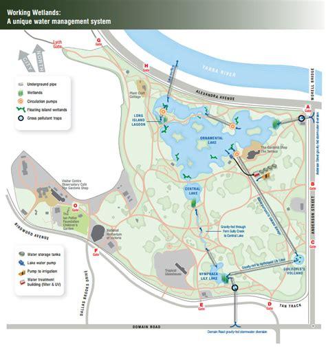 Map Botanical Gardens Melbourne Greening Royal Botanic Gardens Melbourne Spel Environmental