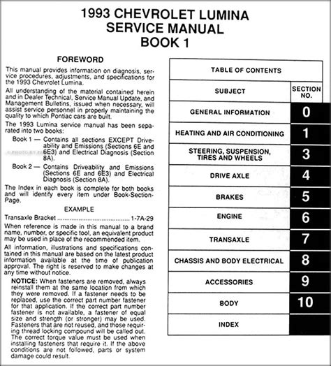 service manual 1993 chevrolet lumina user manual power to panel fuse in a 1993 lumina 1993