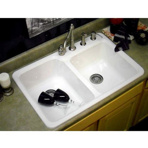 kitchen sinks chepachet self rim double bowl kitchen