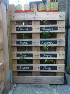 pallet herb garden backyard ideas pinterest pallet