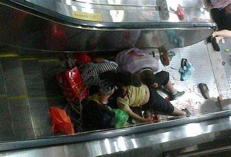crushed by escalator horrifying escalator accident crushes boy to death