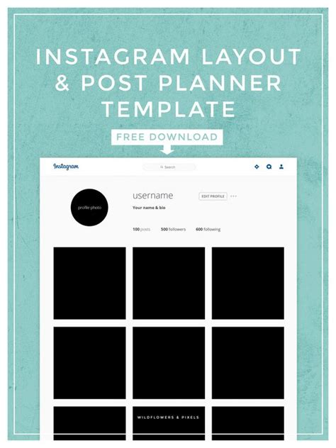layout instagram psd instagram layout post planner template posts