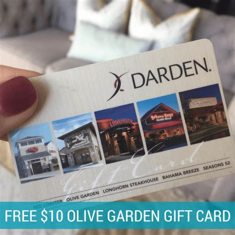 Free Olive Garden Gift Card - free 10 olive garden gift card after cash back new members