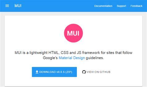 layout css framework 20 best material design web ui frameworks for websites