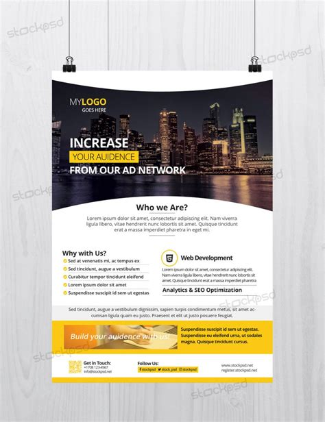 poster templates free photoshop 25 free business flyer templates for photoshop mashtrelo
