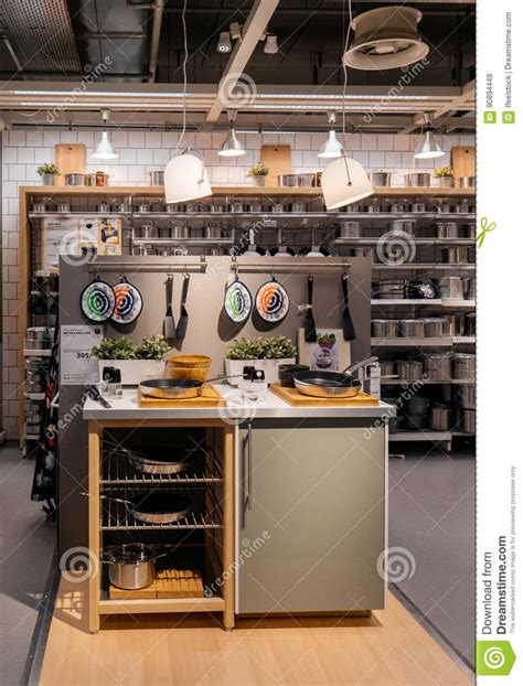 kitchen furniture store shopping at ikea furniture store editorial stock image