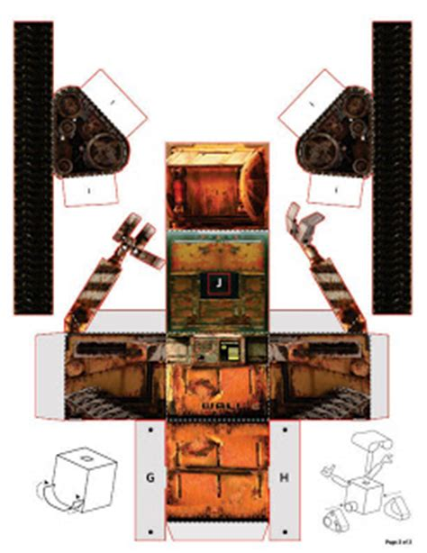 Wall E Papercraft - disney s official wall e papercraft paperkraft net