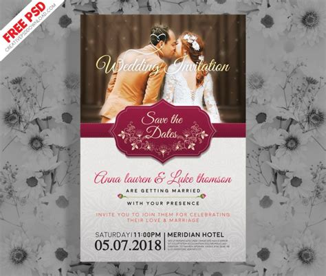 wedding invitation psd wedding invitation post card psd