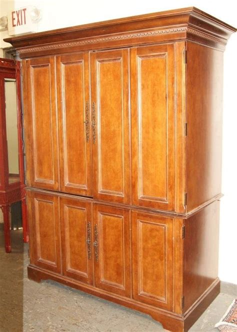 hooker armoire 237 hooker furn co 2pc desk and armoire lot 237