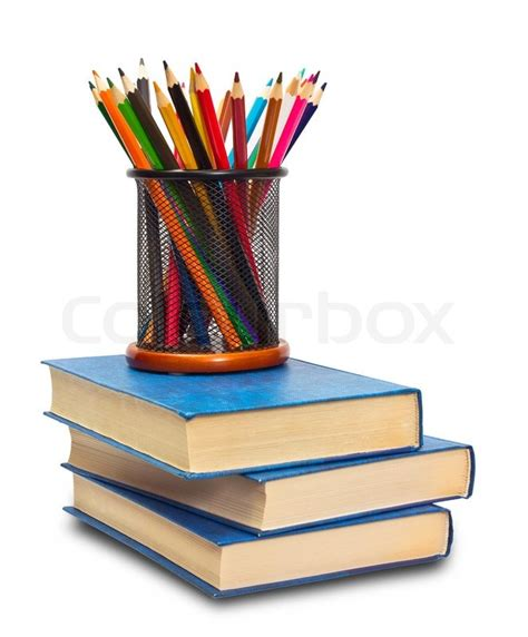 pictures of books and pencils book and pencils stock photo colourbox