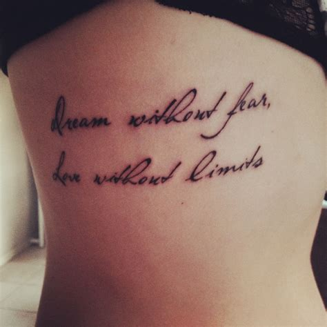 fear nothing tattoo design without fear without limits quotes