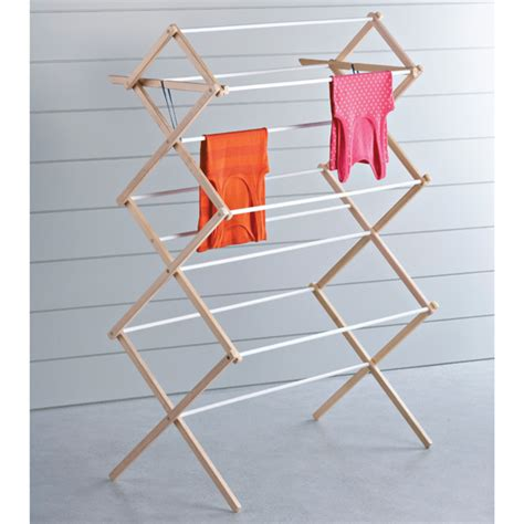 Drying Rack by Wood Dowel Drying Racks The Container Store