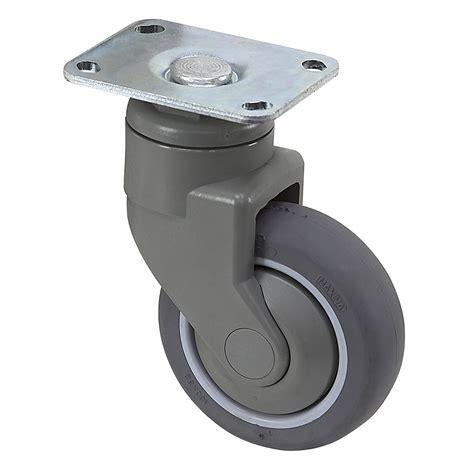 Roda 1 1 4 125 Casters Gepeng 1 Set 4 Pcs Promo T37 N0148 4 quot x 1 1 4 quot medcaster swivel plate caster pd04rpp125swtp01 plate casters casters wheels