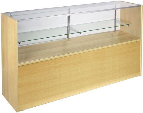 Glass Display Case   Maple Melamine Finish & Half Vision