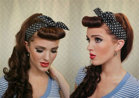 Modern Pin Up Hairstyles by The Freckled Fox Modern Pin Up Week 1 Cascading Pony
