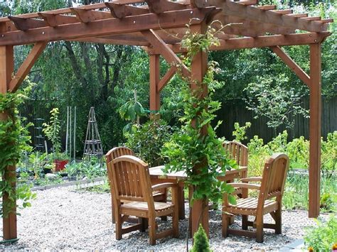 backyard arbors designs woodwork garden pergolas pdf plans