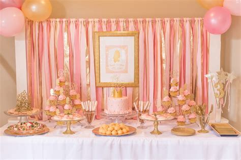 Peppa Curtains Kara S Party Ideas Pink Amp Gold Princess Themed Birthday Party