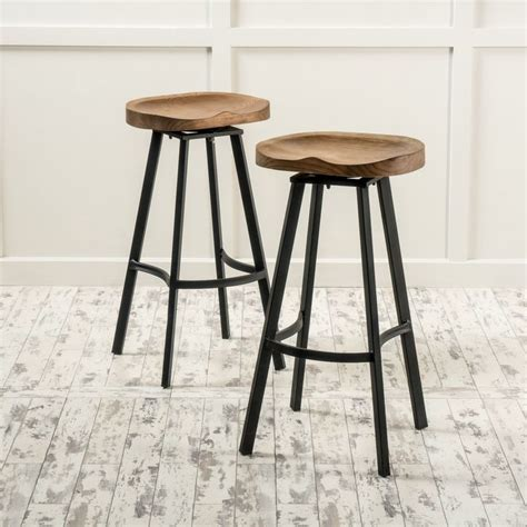Download Kitchen Wood Top Bar Stools Renovation With Pomoysam Com