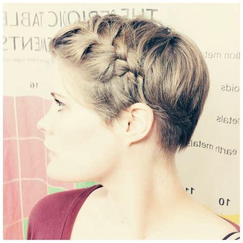 braided pixie cut long pixie braided hair pinterest