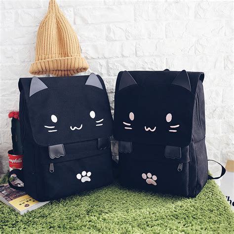 Gogftitik5714 Tas Ransel Backpack Wanita A tas ransel wanita model cat black white jakartanotebook