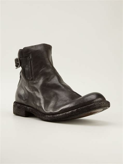 officine creative mens boots lyst officine creative ideal buckled ankle boots in