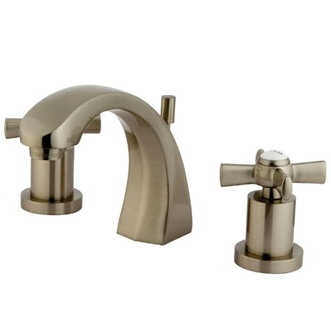 satin nickel bathroom faucets kingston brass ks4988zx widespread lavatory faucet satin