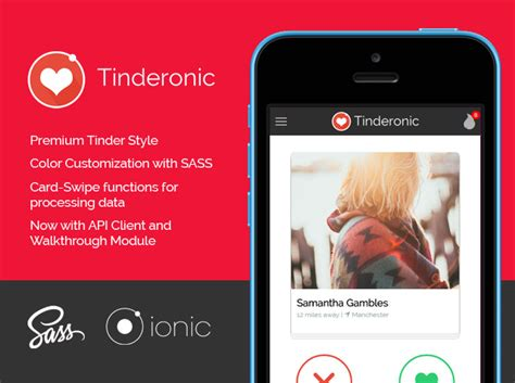 ionic card teaser template tinderonic a premium styled tinder card starter for