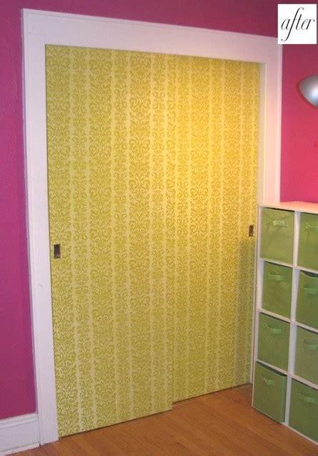 Designsponge Wallpaper On Closet Doors Wallpaper Closet Doors