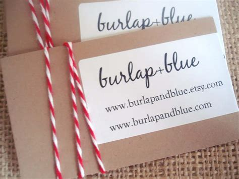 Handmade Business Cards - diy crafts