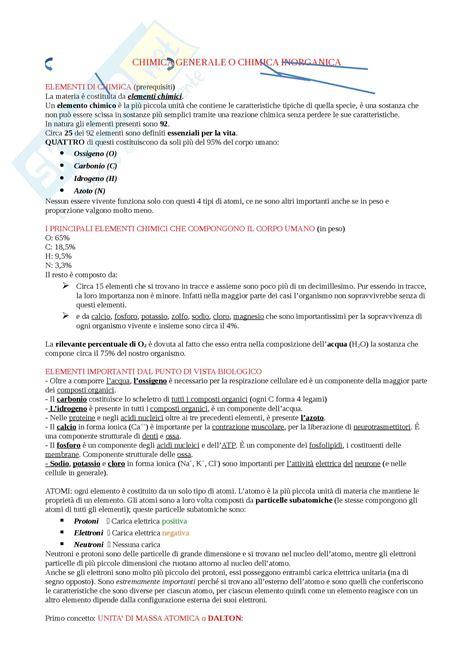 test ingresso biologia nozioni appunti di fondamenti di biologia