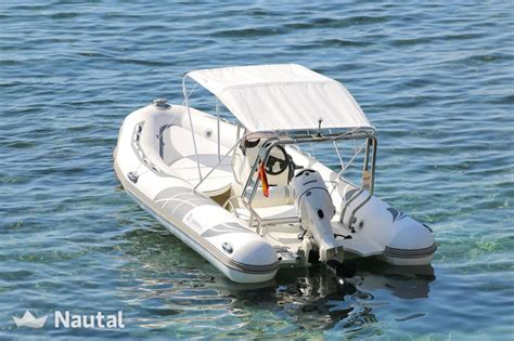 rib boat in spanish inflatable for 8 people in ibiza nautal