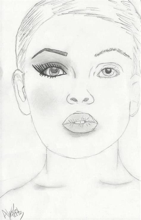 Drawing Up by How To Draw A Makeup Sketch Mugeek Vidalondon