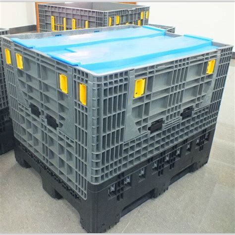 foldable storage containers 800l plastic folding storage containers with lids buy