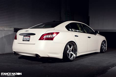 stanced 2007 nissan maxima hellaflush stance d max maxima forums