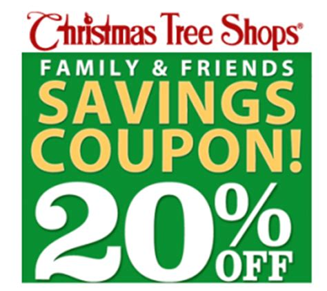 20 off christmas tree shops printable coupon