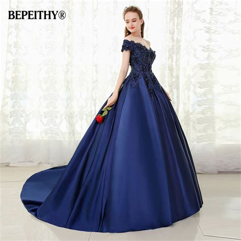 by my michelle lace long gown for prom bepeithy v neck navy blue long evening dress lace beaded