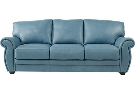 light blue leather sofa blue sofas couches navy royal light blue sofas